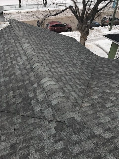 roofing project in winnipeg manitoba with dels exteriors