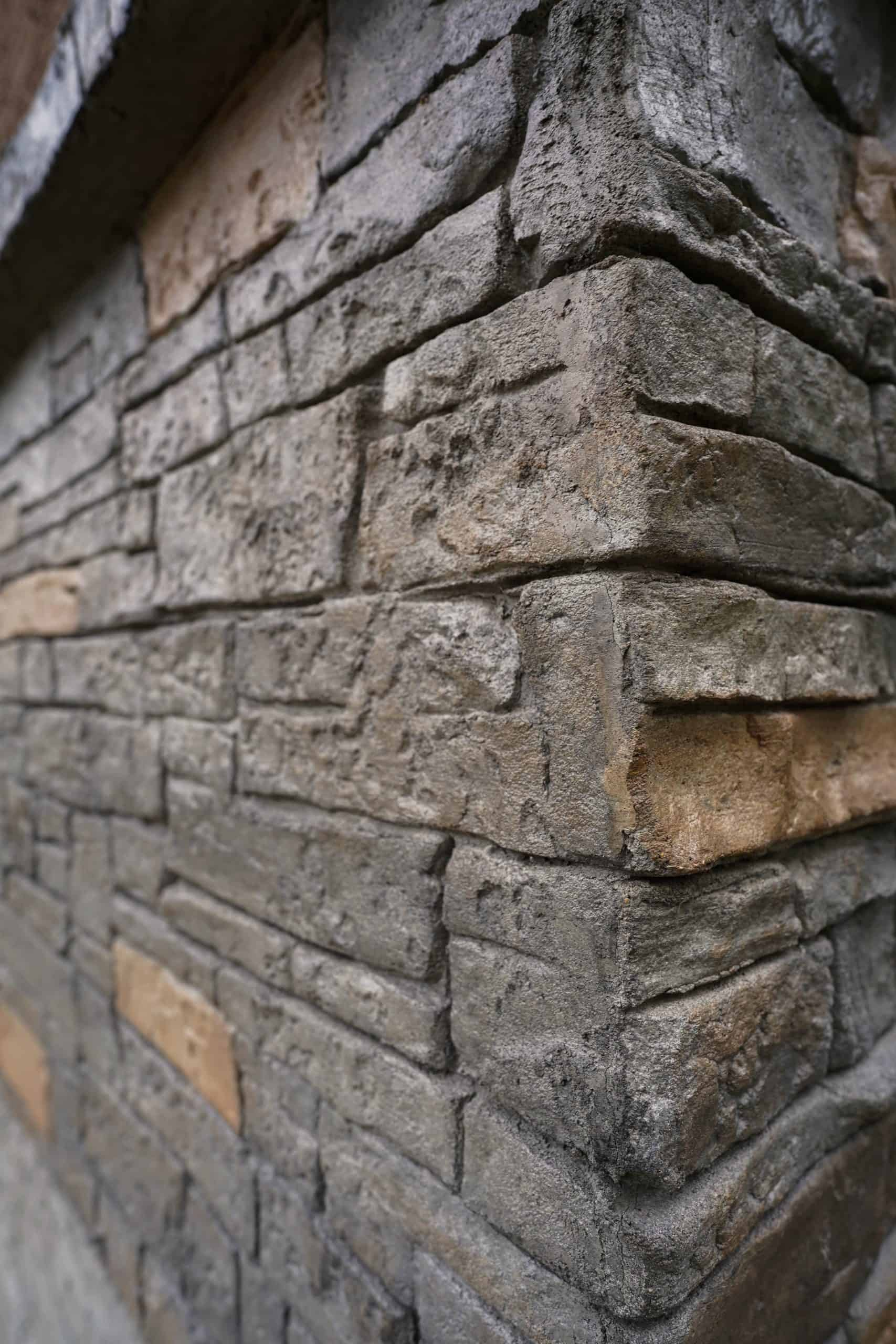 vertical stamped stone in winnipeg manitoba with dels exteriors